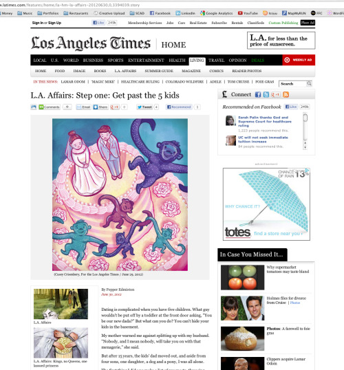 —Hey West Coasters, make sure to pick up a copy of today's LA Times. You'll find an illustration by yours truly in the LA Affairs section.