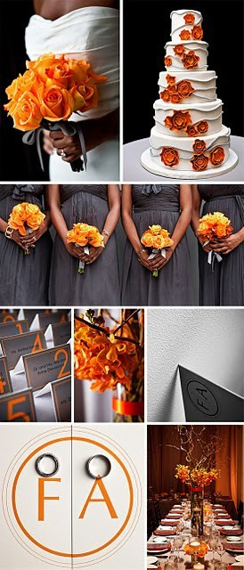 weddingdaydreams:  I am loving these colors for a fall wedding.