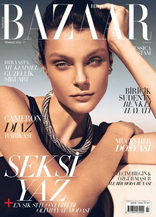 Jessica Stam  for Harper's Bazaar Turkey July 2012 Photo:  Koray Birand