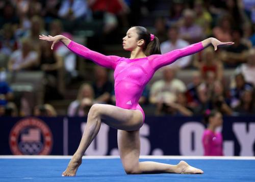 "20 days of a gymnastics fan day eleven: who's the most underrated gymnast ""Sabrina Vega. I know she's inconsistent, but she has a great floor and beam, and she's classy. I wish they gave her more credit and showed her more on broadcasts."""