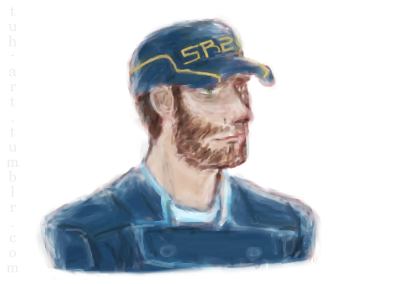 tuh-art:  Still trying to learn the ways of paintchat. So here's Jeff.