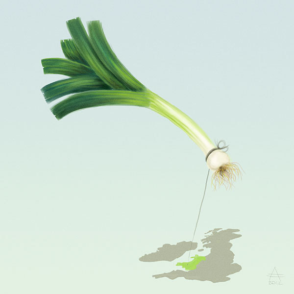 The leek is one of the national symbols of Wales. Much better than those macho eagles and griffins that every other country has!