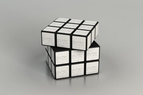 explore-blog:  Rubik's Cube for the blind  Some of us that can see might actually be able to conquer this Rubix Cube… Because it's all one color. This great design concept reminds us to never take for granted your sense of sight.