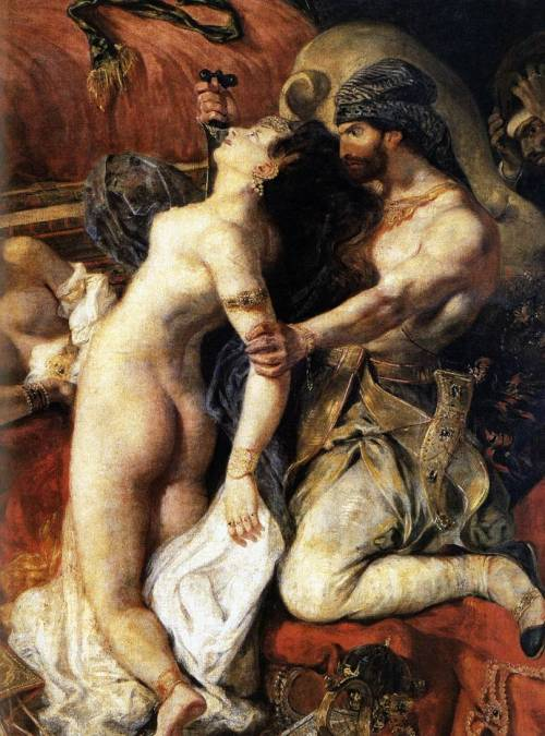 flyingodiva:  Eugène Delacroix, The Death of Sardanapalus (detail), 1827