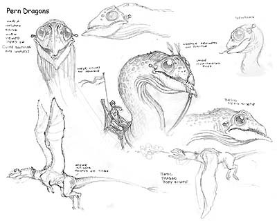 Sketch of the Dragons on Pern