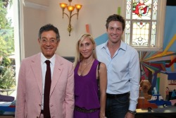 "Jeffrey Deitch, left, with Alexandra von Furstenberg and Dax Miller. ""MOCA Louis Vuitton Art Talks"" took place Oct. 16 at museum director Jeffrey Deitch's historic home. Artist Barbara Kruger, whose artwork concerns power, money, women and other issues, was the day's guest Speaker."