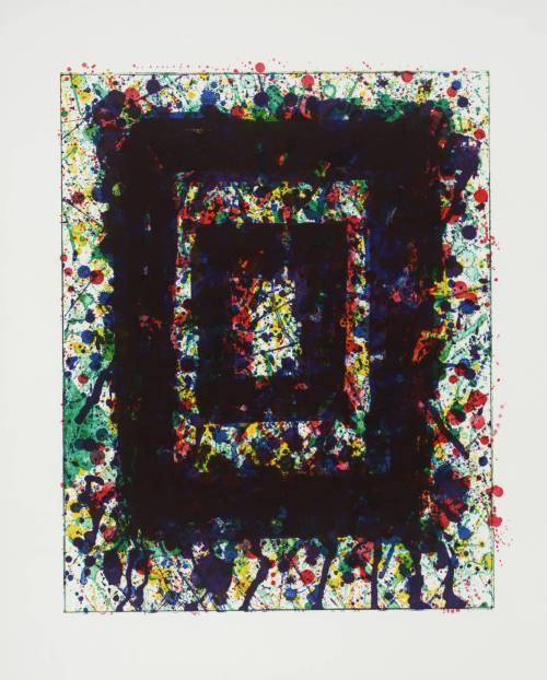artpedia:  Sam Francis - Concert Hall I, 1976. Lithograph on paper