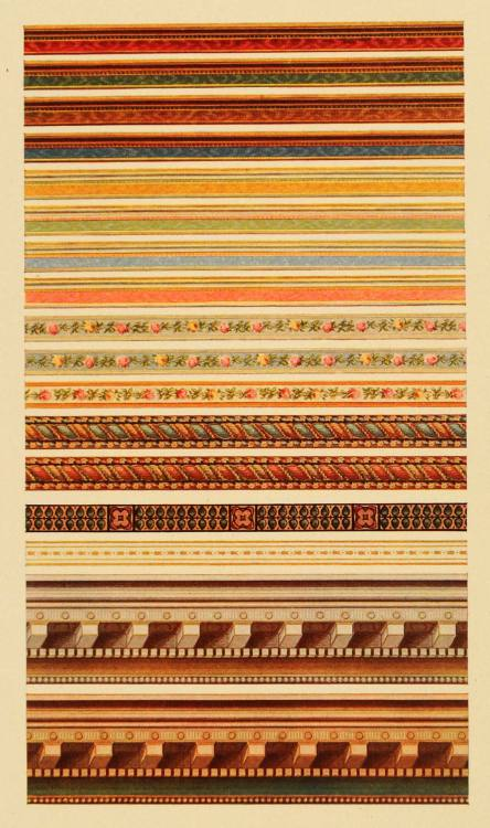 A wall paper border sampler from Marshall Field's, 1908, Chicago.