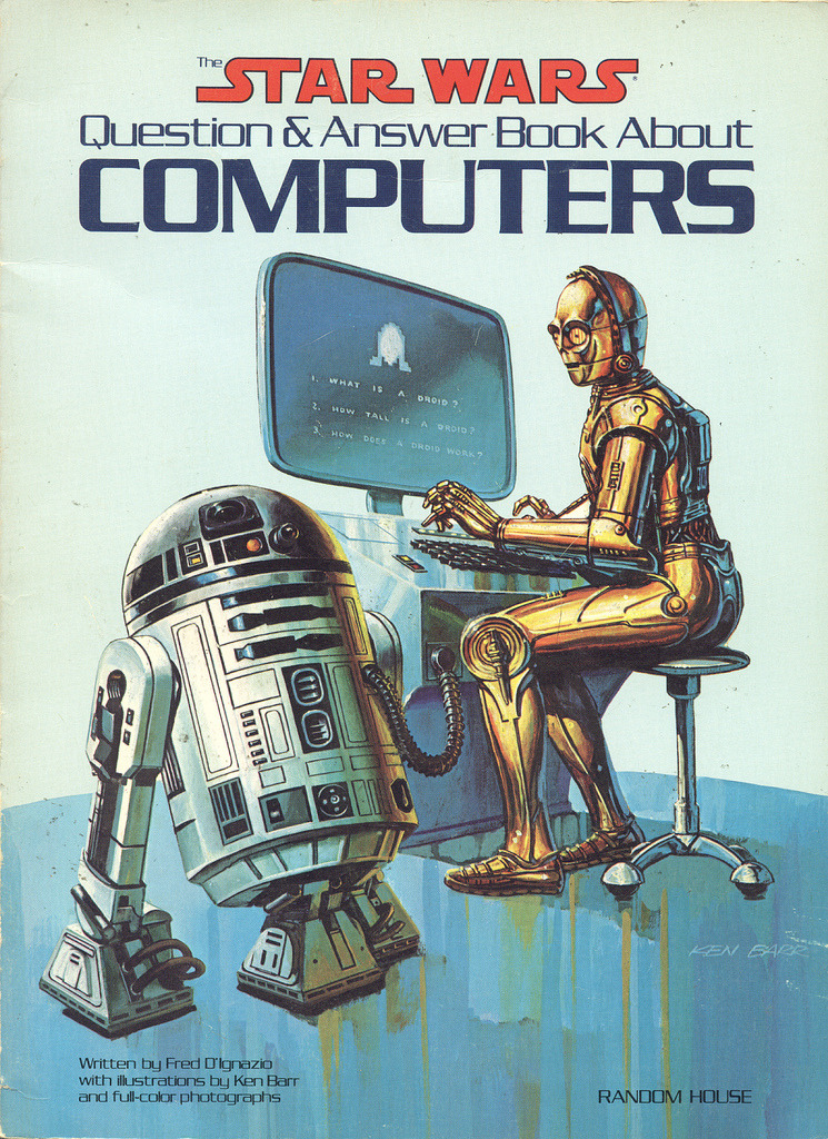 thisistheverge:  Marvel and Star Wars Computer-Books Oh C-3PO, just Google it  Does C-3PO really need to sit down and type on a computer? R2D2 is already hooked up to it, anyway.