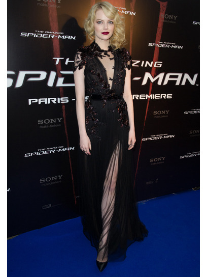 Emma Stone is one of our best-dressed celebs of the week in a dramatic black gown by Gucci. Check out the rest of the stars who topped our list »