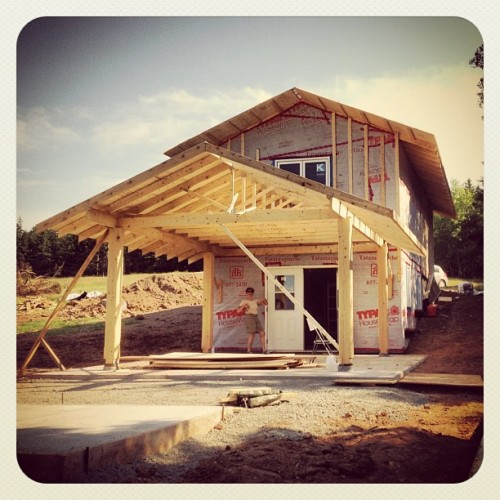Kitchen rising. Dorje Denma Ling #workerman #novascotia #DDL #dorjedenmaling #camp #kasung #kasungland #buildit (Taken with Instagram)
