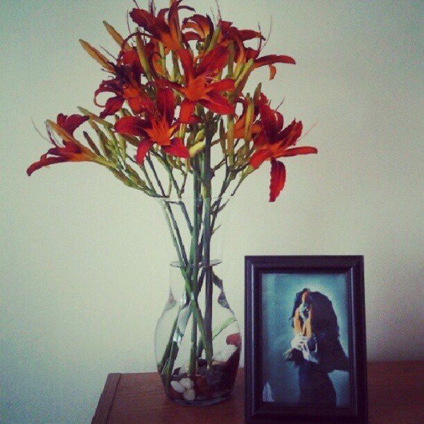 somehowsomeway:  Flowers and ghouls  (Taken with Instagram)  This made my day.
