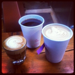 The trifecta: #latte #gibralter #horizontes (Taken with Instagram at Ritual Coffee)