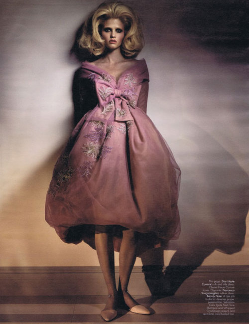 stormtrooperfashion:  Lara Stone by Craig McDean for W Magazine April 2011