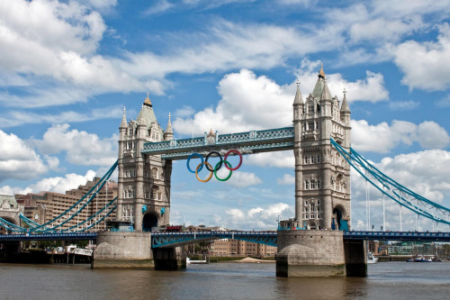 Tower Bridge ready for the Olympics