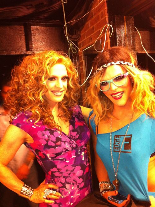 Backstage with Willam, eating grapes and things in Knoxville.