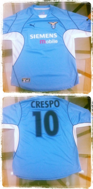 Shirt of the day: Lazio, Puma, 2001/2  In honour of Hernan Crespo - courtesy of @RichardPeters from our Facebook page