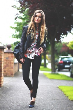 what-do-i-wear:  Jeans – Topshop, Shoes – Le Bunny Bleu, Jacket – Storets, Necklace – Ziba Collection  (image: anouska)