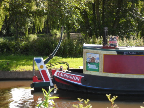 Canal barge - Calf Heath Marina, Hatherton Junction. The Staffordshire & Worcester Canal, Staffordshire.