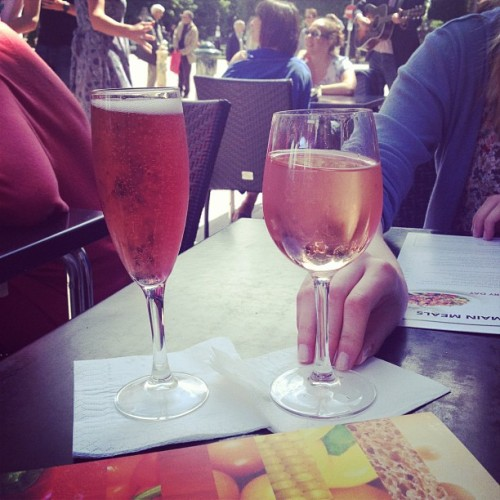 Cheeky glass of champagne and rosé with @BelRse (Taken with Instagram)