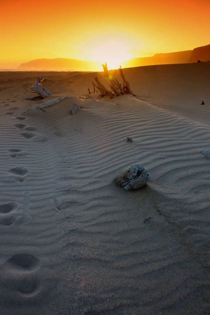 Sunset Footprints (by Jurjen Harmsma Photography (back))