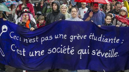 "Quebec teachers to join students against government plansJune 30, 2012 Student protests in Canada's eastern province of Quebec are expected to build up steam before the end of the summer with teachers becoming involved in the demonstrations against the government's plans. Quebec teachers will reportedly engage in student protests as differences with the provincial government over their demands still remain unsettled. With talks over the teachers' demands ending in failure, Quebec Premier Jean Charest's plan to reopen universities in August to finish the postponed winter term could be undercut. The teachers' union has called on the government to employ a few hundred temporary teachers to help professors manage their workload during the intensive fall plan. The union has also threatened to stop working if their demands are not met by the government. ""We're ready to do our part in all of this,"" Micheline Thibodeau, vice-president of the teachers' federation said. ""We're just trying to provide the resources so that our students succeed.""  Source"