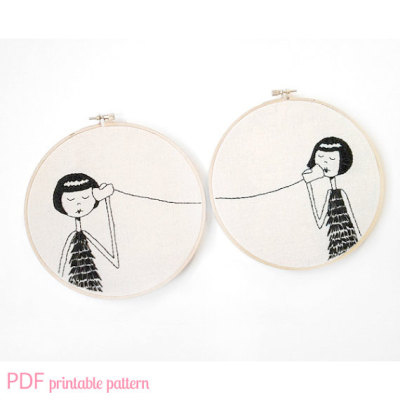 lydiaslovelies:  BFF Embroidery Set PDF Pattern by flapperdoodle