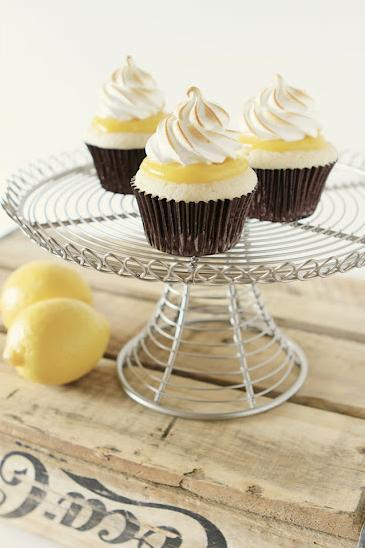 e-levated:  Lemon Tart Meringue Cupcake by Ditzie Cakes