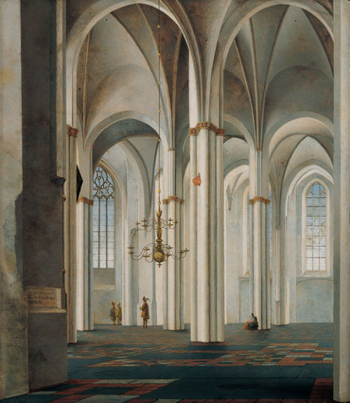Interior of the Buurkerk, Utrecht by Pieter Saenredam, 1645