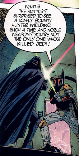 Yeah, Vader! You're not the only one that is capable of killing jedi and thinking you are seems highly narcissistic.