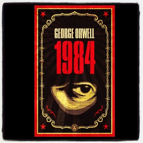 1984 with cover designed by #Obey artist Shepard Fairey just came in the mail. #bestbookever (Taken with Instagram)