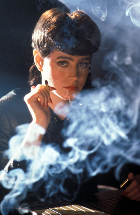 norma-bara:  Rachel Rosen, Blade Runner.  Ridley Scott's alternative cast for Rachel, Nina Axelrod, was an interesting approach to the Replicant-Leitmotiv as well: more like a 1980s version of Grace Kelly. Among others, her audition is featured on the bonus DVD included in the 2007 director's cut collection.