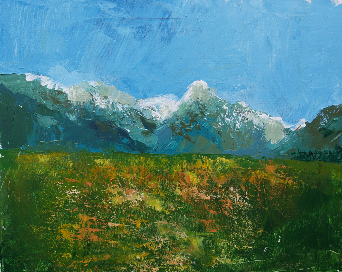 Summer Field. Acrylic, 2012.