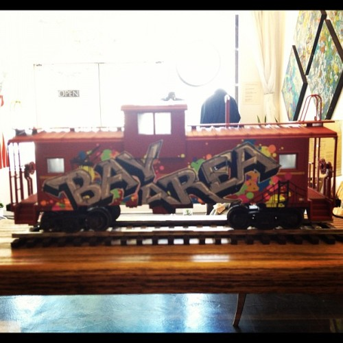 Graffiti train by Nolan Jones @secessionsf #veteran #trains #art (Taken with Instagram)