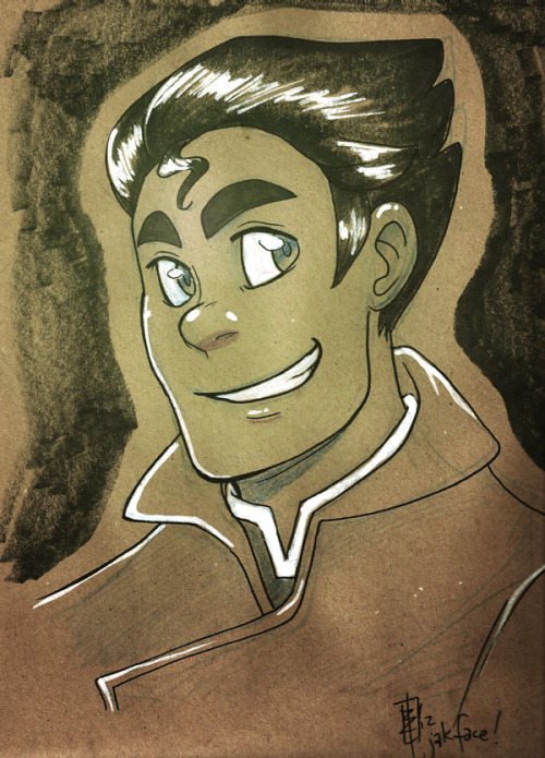 keyshakitty:  jakface:  Bolin kraft headshot! Him, and other handmade Korra goodies will be on sale at MiniComi in Vancouver, BC at UBC, July 7th! If you're in the area, please come! It's a free event, and there's tons of artists showcasing their stuff!  <3 AWWWW YIS!