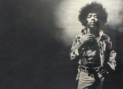 Jimi Hendrix Retro Wallpaper