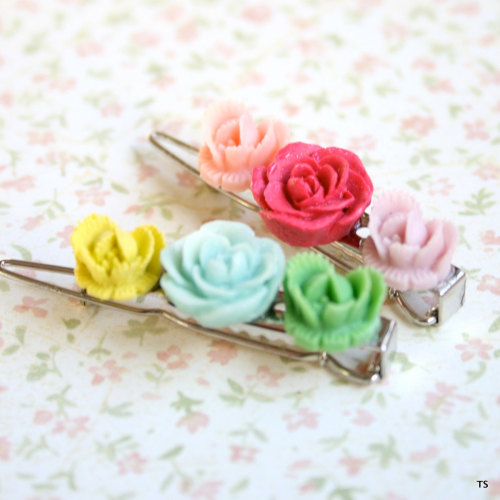 Rosy Barrettes for all ages by Nest Pretty Things