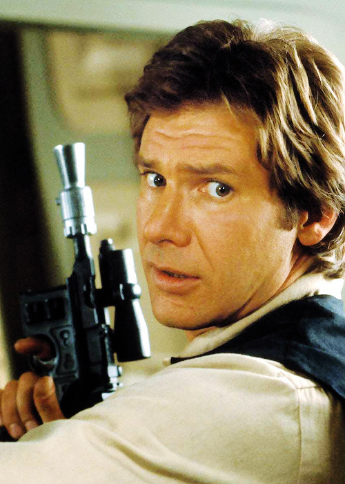 Harrison Ford as Han solo in Star Wars IV - A New Hope (1977)  Pew Pew