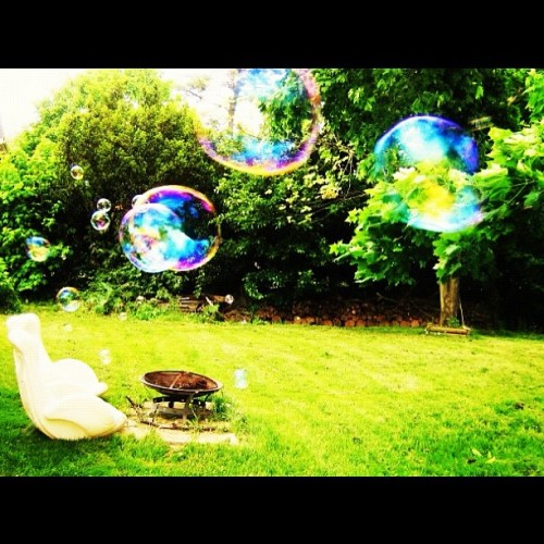 #oldphoto #bubbles #backyard #summer (Taken with Instagram)