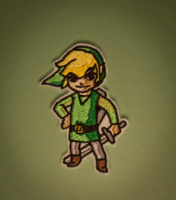 Wind Walker Link — Zelda Embroidered Iron-on NES Nintendo GameCube Patch