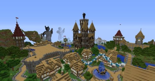 Epic Medieval Town! Trailer for the awesome server this was built on: [x] I might start playing on this server! Click here for more Minecraft!
