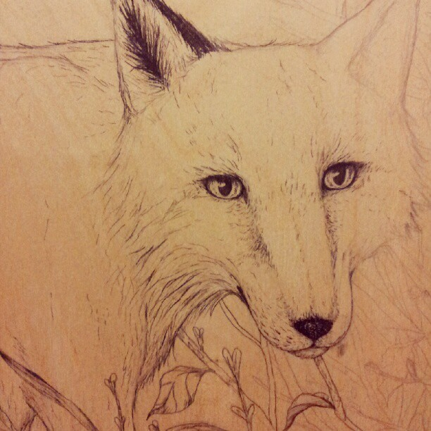 More progress on the fox! (Taken with Instagram)