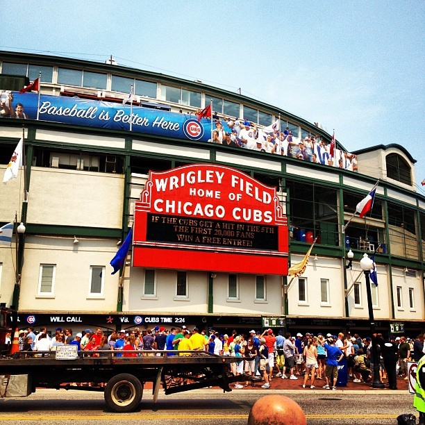 Chea!! (Taken with Instagram at Wrigley Field)