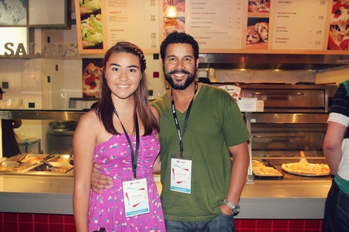 "Met Jon Huertas yesterday at Vidcon! I literally was so shocked when I saw him, because I had no idea he was going to be there. I was like ""OH MY GOD, ESPOSITO."" Haha we talked for like 5 minutes and then took a pic! He is SOO nice! Literally the best day of my life pretty much!"