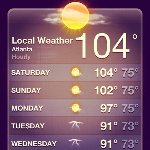 atlscene:  Hotlanta. Living up to the name. (Taken with Instagram)