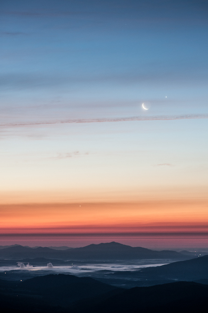 fleurists:  Sunrise with Jupiter, Venus, and the Moon, by Jon Beard