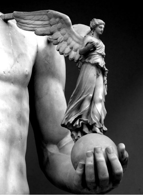 Angel image of the day. artemisdreaming:  Statue, Vatican Museum Justus Hayes (Shoes on Wires- in color: here)   Artemis: Have a great Monday. :)