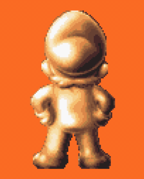 Super Mario's golden butt.