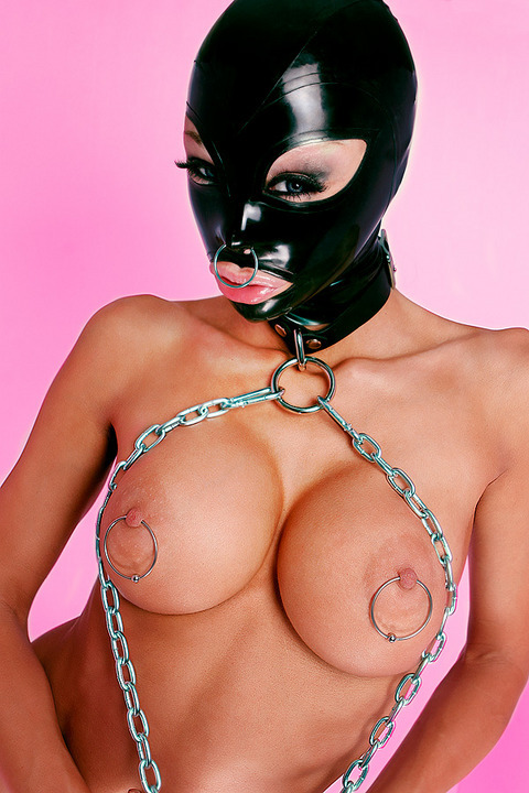 seraphimsphoto:  #Rubber #hood, big #pierced #nipples #bondage #fetish these are just a few of my favorite things