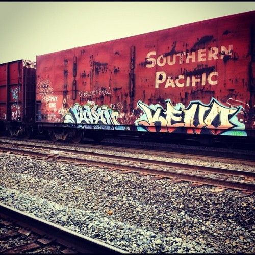 More #train #graffiti #tags #sprays #northwesttraingraffiti #rail  (Taken with Instagram)